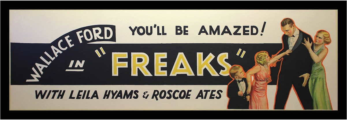 FREAKS AMERICAN  YOU'LL BE AMAZED BANNER