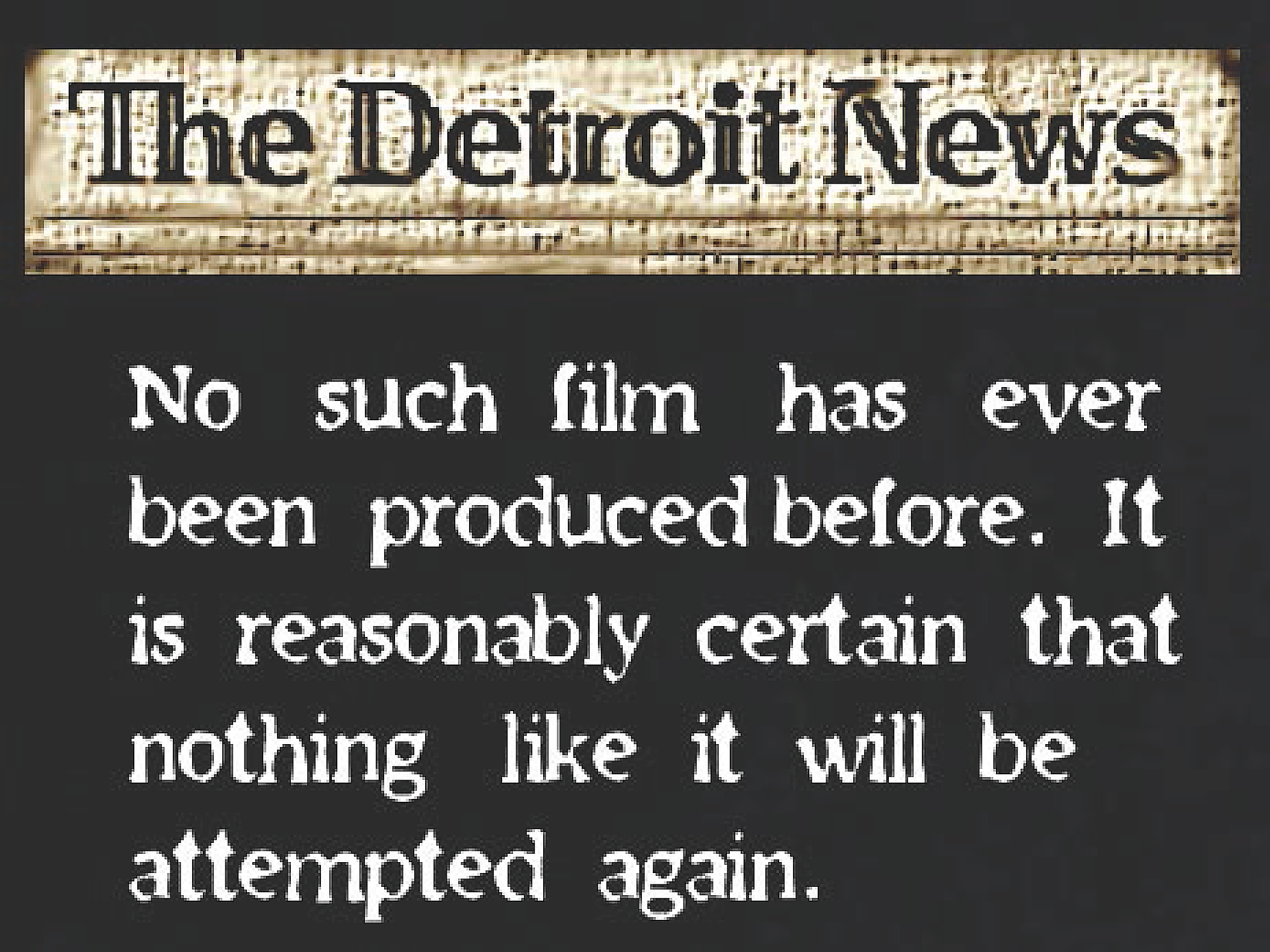 THE DETROIT NEWS REVIEW