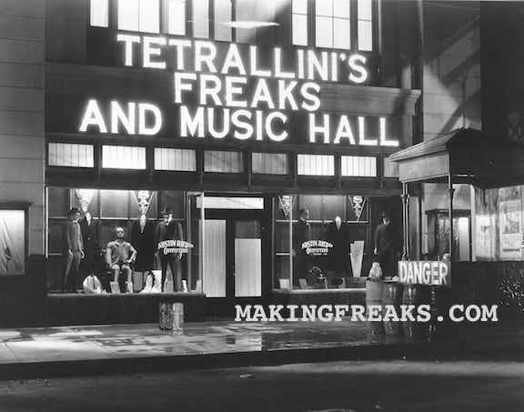 Freaks#29 - DELETED SCENE - EXTERIOR TETRALLINI;S FREAK SHOW AND MUSIC HALL